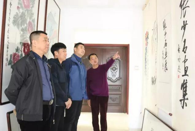 宣和艺术院单玉志、杨东亮、刘宏亮、徐英奎等一行参观张少石艺术馆