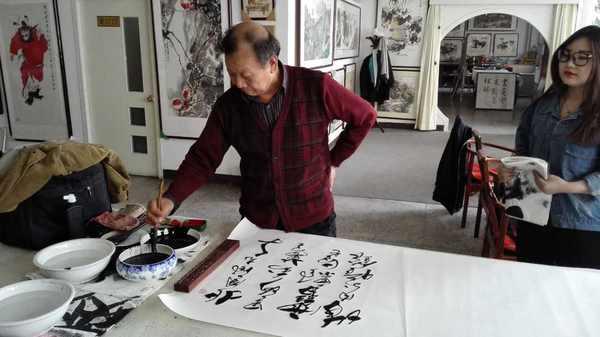 宣和艺术院副院长李平安一行到直隶行宫书画院交流