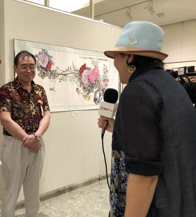 """赵言斋""""中日友好和平条约缔结40周年""""国画艺术展在日本东京开幕"""